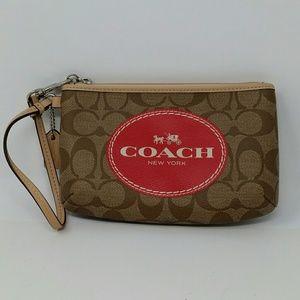 Coach Signature Purse Wallet Wristlet